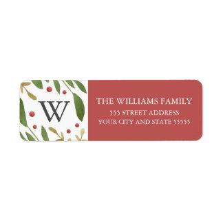 Winter Sprigs Return Address Label
