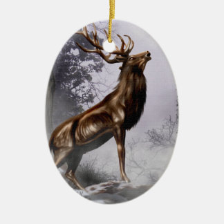 Winter Stag Christmas Ornament