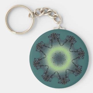 WINTER STAR by SHARON SHARPE Basic Round Button Key Ring