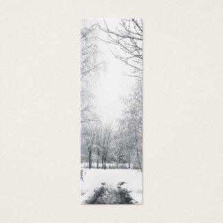 Winter starts here gift tag mini business card
