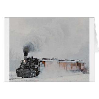 Winter Steam Greeting Card