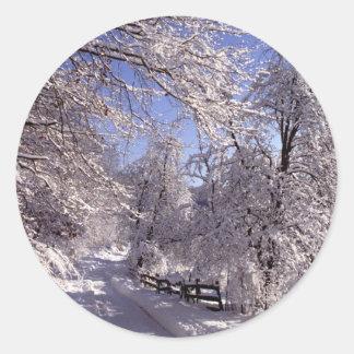 Winter Round Stickers