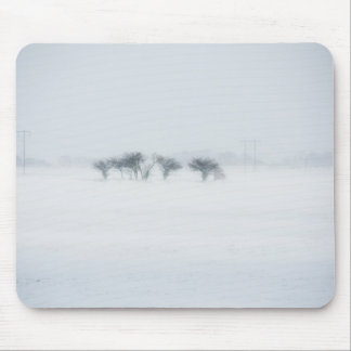 Winter storm landscape mousepads