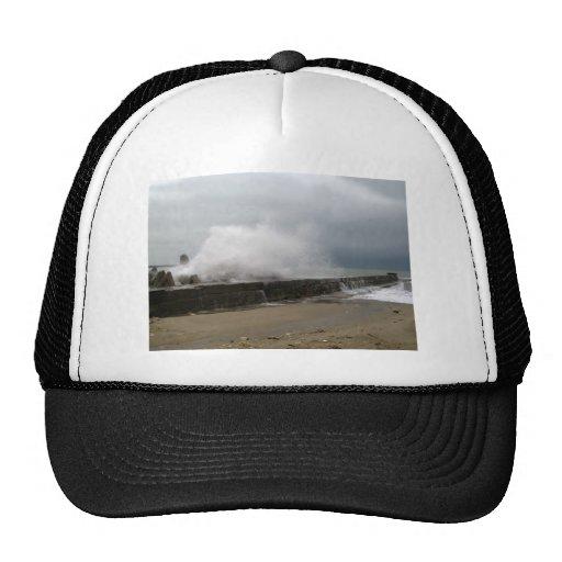 Winter Storm on The Seaside Mesh Hats