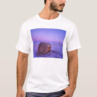 Winter Straw Bales near Cartwright North T-Shirt
