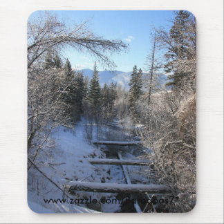 Winter Stream Mouse Pad