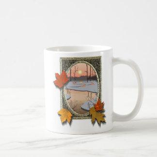 Winter stream coffee mugs