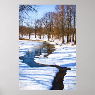 Winter Stream Poster