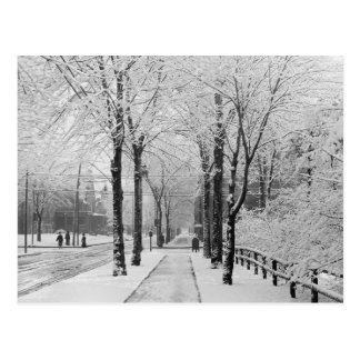 Winter Street Scene, 1910 Postcard