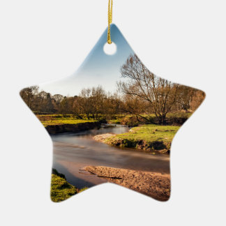 Winter Stroll Along The River Bollin Christmas Ornament