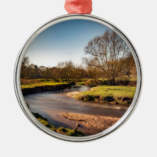 Winter Stroll Along The River Bollin Silver-Colored Round Decoration