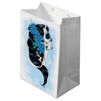 Winter Sugar Skull Medium Gift Bag
