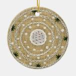 Winter /  Summer Mandala Ornament
