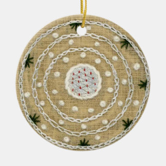 Winter /  Summer Mandala Ornament