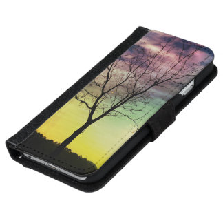 WINTER SUN AND TREE | iPhone 6 Galaxy Wallet Cases iPhone 6 Wallet Case