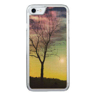 WINTER SUN AND TREE | iPhone/Samsung Wood Carved iPhone 7 Case
