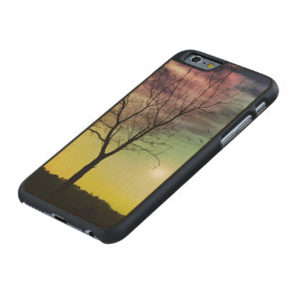 WINTER SUN AND TREE | iPhone/Samsung Wood Cases Carved® Maple iPhone 6 Case