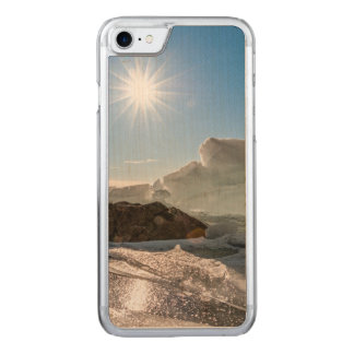 Winter sun carved iPhone 7 case