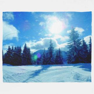 Winter Sun Fleece Blanket