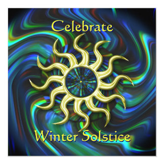 Winter Sun Solstice Party Invitation