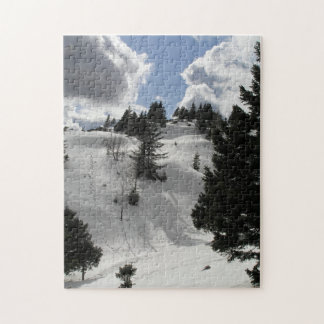 Winter sunny day in mountains jigsaw puzzle