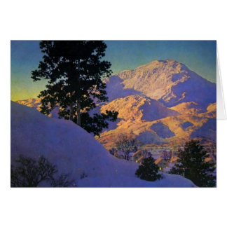 Winter Sunrise by Maxfield Parrish Card
