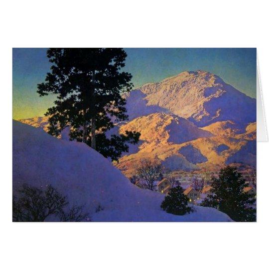 Winter Sunrise by Maxfield Parrish Card