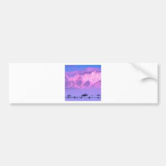 Winter Sunrise Grand Teton Wyoming Car Bumper Sticker