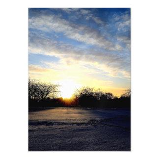 Winter Sunrise Magnetic Invitations