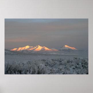 Winter Sunrise on Mt. Lindsey Poster