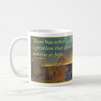 Winter Sunrise over Snowy Landscape Coffee Mug