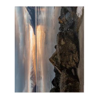 Winter Sunrise over Turnagain Arm Alaska Acrylic Print