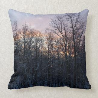 Winter Sunrise Pastel Nature Landscape Photography Cushion