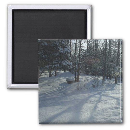 Winter Sunrise Square Magnet