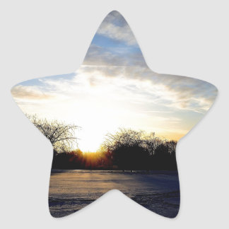 Winter Sunrise Star Sticker