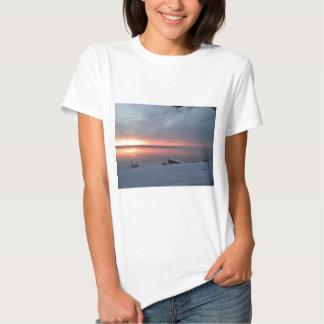 Winter sunrise tee shirt