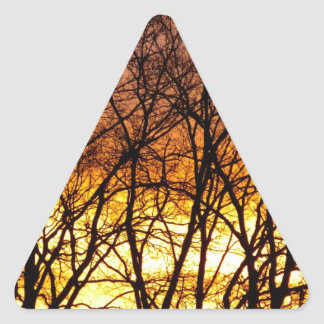 Winter Sunrise Triangle Sticker