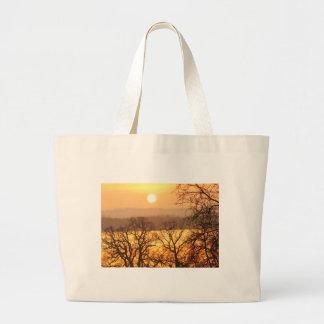Winter Sunset 3 Large Tote Bag