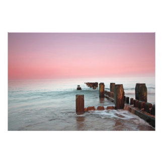 """Winter sunset at the beach"" Photo Print"