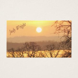 Winter Sunset Business Card