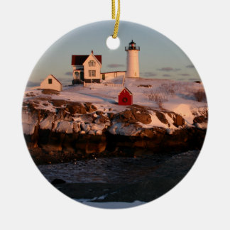 Winter Sunset Christmas Ornament