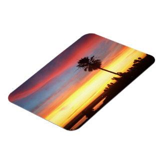 Winter sunset in Redondo Beach, CA Rectangular Photo Magnet
