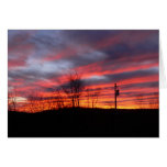 Winter Sunset in the Catskills Greeting Card