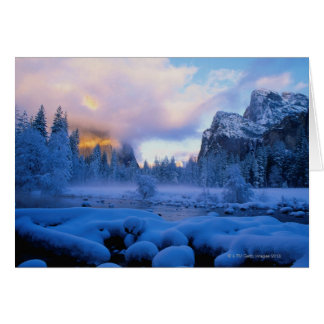 Winter Sunset in Yosemite National Park Card