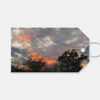 Winter Sunset Nature Landscape Photography Gift Tags