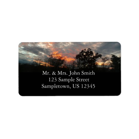 Winter Sunset Nature Landscape Photography Label