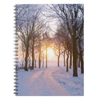 Winter Sunset Notebook
