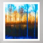 Winter Sunset on Lake Siljan Poster