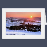 Winter sunset on The Helm, Kendal Christmas Card