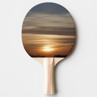 Winter Sunset Ping Pong Paddle